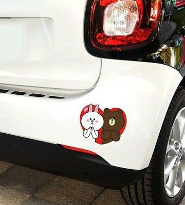 cute rabbit bear car Sticker  Bumper Van Window Laptop JDW VINYL Decals Stickers