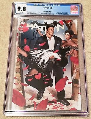Batman 50 Cgc 9.8 Greg Horn Comicxposure Variant-A Catwoman Wedding Exclusive