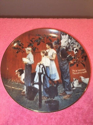 """Vintage Norman Rockwe """"The County Agent""""  Collectors Plate #0779A"""
