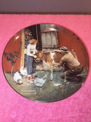 """Vintage Norman Rockwell """"The County Agent""""  Collectors Plate #0598A"""