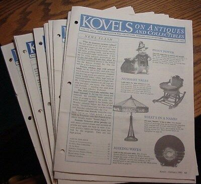 Kovels On Antiques and Collectibles Newsletter February 1993 thru February 1994