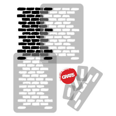 Reusable PLASTIC Wall STENCIL Template 65x95cm Seamless Allover Pattern BRICK