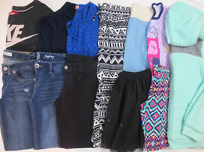 LOT Clothes Girls Size 10 10/12 Medium Fall Winter Outfits Skirts Tops Pants Pjs