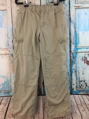71d4b668c BOYS LANDS END IRON KNEE PULL ON CARGO PANTS 18 LIGHT RICH BEIGE ...