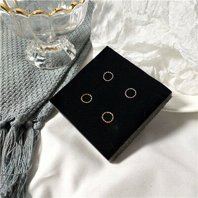 Small Circle Retro Punk Ear Stud Piercing Jewelry Gold Silver Earring LH
