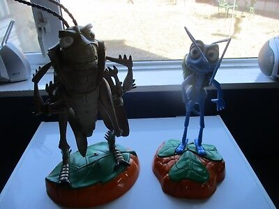 THINKWAY TOYS DISNEY PIXAR A BUG'S LIFE 'FLIK' and 'HOPPER' ROOM GAURD PAIR