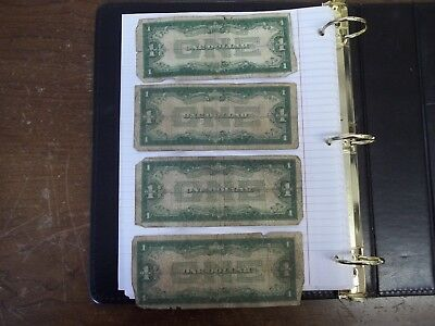 3-1928A 1-1928B Funny Back Silver Certificates  (L-We-2)  4 Piece Lot