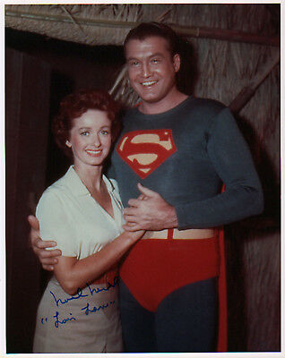 "Noel Neill I/P signed color ""Superman"" photo with George Reeves"