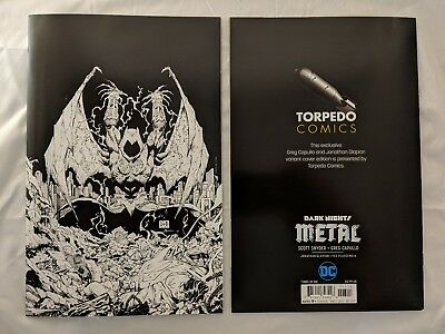 Dark Nights Metal #3 Torpedo Comics Black & White Virgin Variant Cover DC Batman