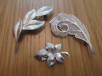 3 , 925 silver brooches
