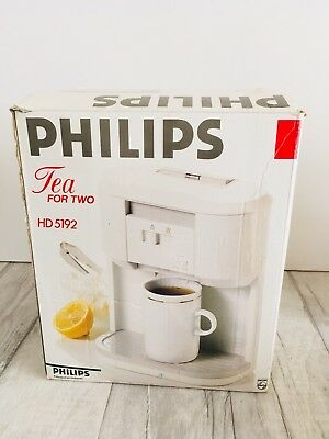 Vintage Philips Tea for Two HD 5192 Retro Teamaker with Box Tea's Made