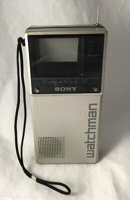 Vintage Sony Watchman Portable Analog Black & White TV Model FD-20A - Tested