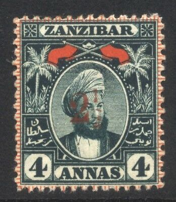 1897 Zanzibar 2½ on 4a SG 175 Mint Hinged Cat £90.00