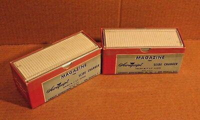 Lot of 2 Airequipt Slide Changer Magazine Holds 36 slides each