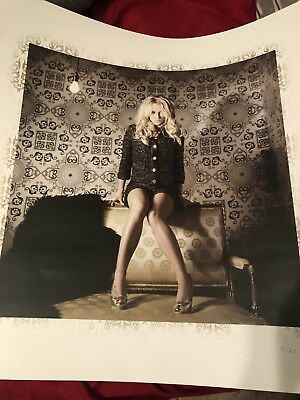 Britney Spears RARE Femme Fatale Tour VIP Limited Edition Poster 6,263/10,000