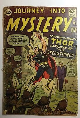 JOURNEY INTO MYSTERY #84 MARVEL ATLAS 1962 KIRBY 2nd THOR 1.0-1.5 Complete Comic