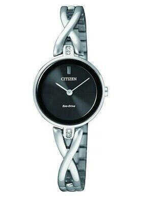 Citizen Eco-Drive Silhouette Women's Black Dial Bangle 23mm Watch EX1420-50E
