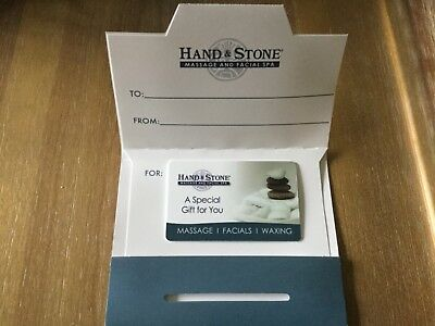 Hand & Stone Massage and Facial Spa Gift Card Valid Any Location