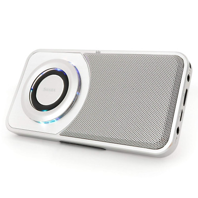 Ultra Slim Pocket Portable Bluetooth Speaker with Phone Stand,LED Light And More