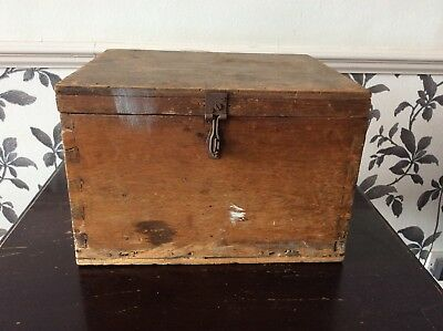 Vintage Box Wooden Tool Storage Box Display Stage Props Old Antique Shabby