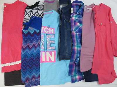 LOT Clothes Girls Size 14 14/16 Fall Winter Shirts Leggings Tops