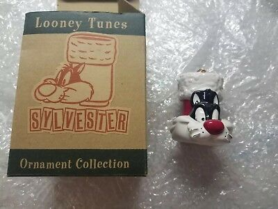 Warner Brothers 1994 Sylvester Christmas Ornament In original box!!!