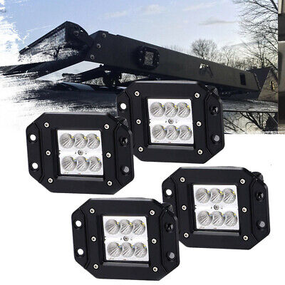 4inch LED Light Bar Flush Mount Flood Bumper Grille Driving Light SUV UTE 4WD 2P