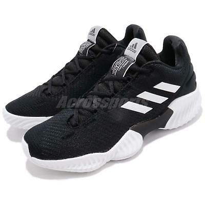 e3eede34c40f2 adidas Pro Bounce 2018 Low Black White Men Basketball Shoes Sneakers AH2673
