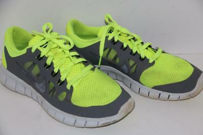 28d2cdbbfdb1 Nike Free 5.0 Boy s Shoes Athletic Volt Cool Gray Size 5.5Y FREE SHIPPING!