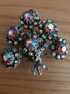 Beautiful Rare Antique Vintage Retro Sparkly  Brooch Pin Jewellery