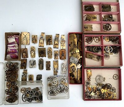 Large Amount Of Working Platform Escapements And Rare Parts