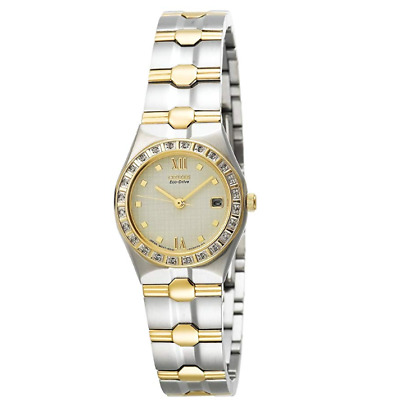 Citizen Women's EW0484-59A Eco-Drive Lucca Diamond Accented Two Tone Watch