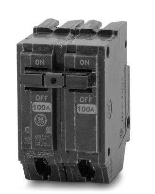 Ge Thql21100 Circuit Breaker 2 Pole  100 Amp 240 Vac New!!