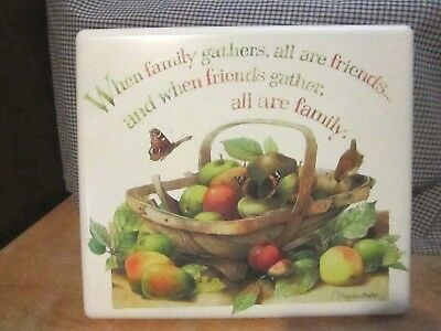 "Natures Sketchbook Marjolein Bastin Metal Sign ""When family gathers..."" 12x10"""