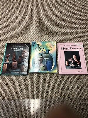three collectors price guide and history of weller hull and mccoy pottery books