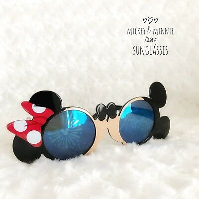 Disney Tokyo Mickey Minnie Kissing Sunglasses From Japan (shortly Used)