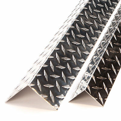 "Outside Corner 2"" x 2"" x 48"" Long Aluminum Diamond Plate x 16 Ga( 0.063)"