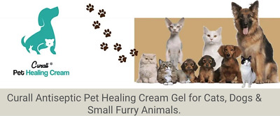 Curall Antiseptic Pet Healing Cream Wound Ointment Bites Stings Dog Cat Rabbit