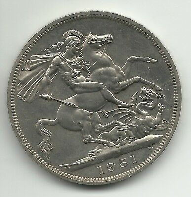 UK (Great Britain) George VI Crown Coin - 5 Shillings  1951 KM# 880