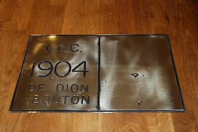 de dion bouton brass naming plate