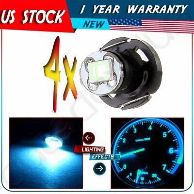 4PCS T4/T4.2 Neo Wedge 2835 SMD LED Climate Heater Control Light Bulbs Ice Blue