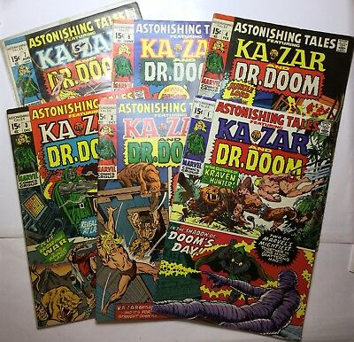 6-astonishing Tales #1VF+,2VF+,3VF,4FN,6VF,7FN+ KAZAR & DR DOOM Very Nice Comics