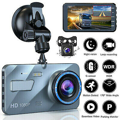 NEW 4'' HD 1080P In Car DVR Dash Cam 3 Lens Reversing Camera Video Recorder 32GB