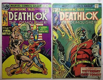2-astonishing Tales #31G, #35FN+ EARLY DEATHLOK - GOOD Comics