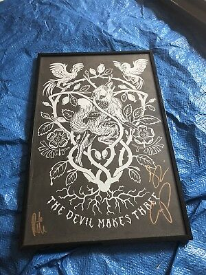 The Devil Makes Three Tour Poster Autographed / Signed