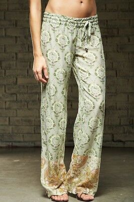 NEW Da-Nang Surplus Women's Pants Floral Drawstring COMBOPRINT CSV51023 MEDIUM M