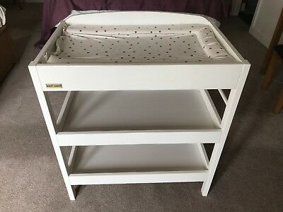 East Coast Clara Dresser Wooden Changing Table With Shelves And Towel Rail White