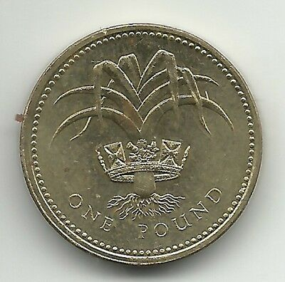 UK (Great Britain)    One Pound Coin  1990 KM# 941