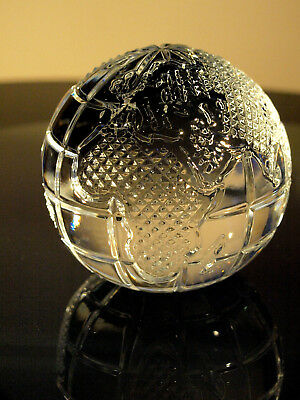 Waterford Crystal GOLF BALL Paperweight Sculpture