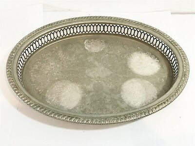 VINTAGE Sterling Silver Plated Plate : Serving Tray Platter Dish Collectable